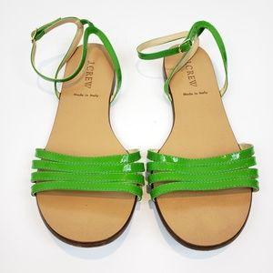 J.Crew Lilibeth Patent Sandal in Green Sz 8